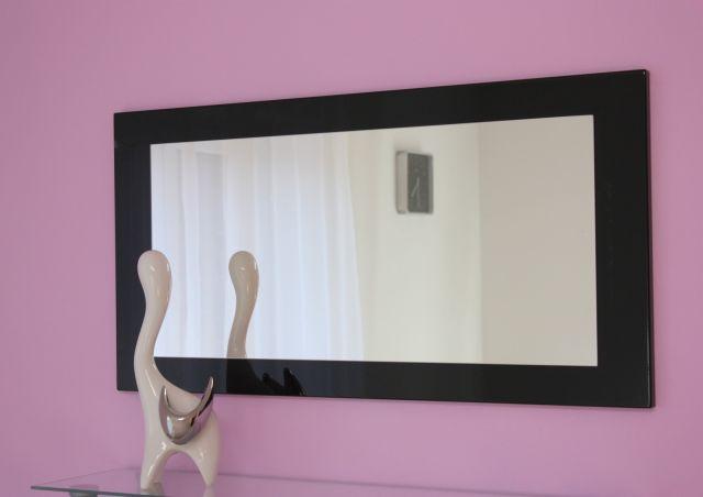 spiegel wandspiegel schwarz hochglanz neu ovp ebay. Black Bedroom Furniture Sets. Home Design Ideas